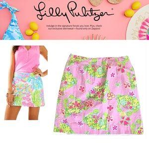 Lilly Pulitzer Shorts - NWOT LILY PULITZER Pink Crap Skort Skirt Shorts